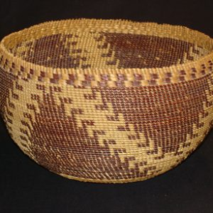 Finished coiled Pomo basket